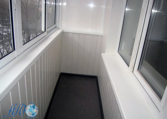 отделка балкона панелями пвх в Минске