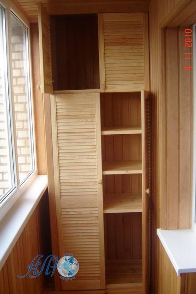 шкаф на балкон в минске с полками