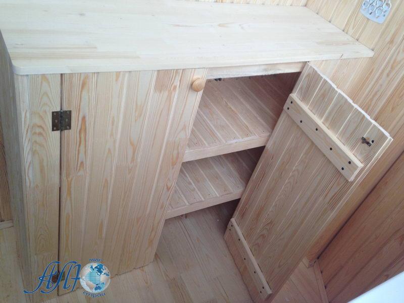 низкий шкаф на балкон