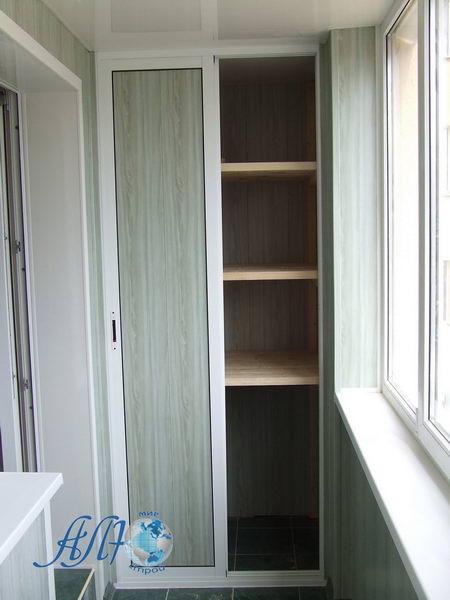 шкаф на балкон с полкой в минске