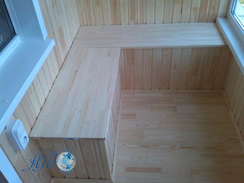 скамья -шкаф на балкон