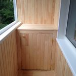 низкий шкафчик на балкон