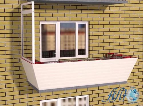 выносное остекление балкона в Минске