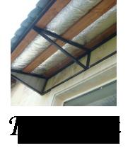 установка козырьков и навесов на крыши в МИНСКЕ