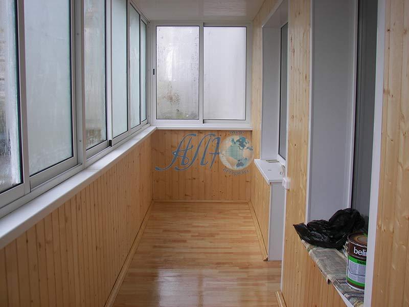 красивый ремонт балкона под ключ фото