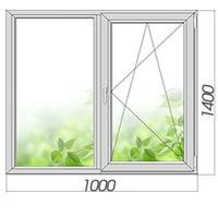 Однокамерное готовое глухое окно 1400*1000