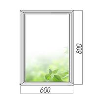 Однокамерное готовое глухое окно 800х600