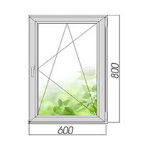 Однокамерное готовое поворотно-откидное окно 800х600